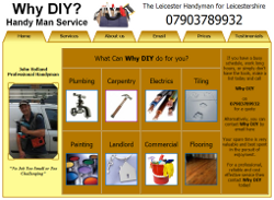 Screenshot of whydiyleicesterhandyman.co.uk